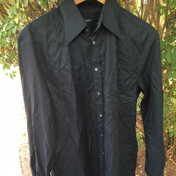 4a3092bcdcf7f Gucci Other - Gucci men 41 16 black button down shirt
